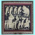 Tranh Đám Cưới Chuột, chất liệu đồng vàng, đúc đồng Đại Bái - Đúc đồng đại bái