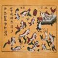 Tranh  Đông hồ Trê Cóc Kiện Nhau, chất liệu giấy điệp - Tranh dân gian Đông Hồ