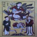 Tranh Đông Hồ bà Nguyệt se duyên, chất liệu giấy điệp - Tranh dân gian Đông Hồ