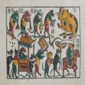 Tranh Đông Hồ Đám Cưới Chuột, chất liệu giấy dó bồi điệp - Tranh dân gian Đông Hồ