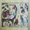 Tranh Đông Hồ thầy Đồ Cóc, chất liệu giấy dó bồi điệp - Tranh dân gian Đông Hồ