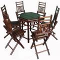 Bộ bàn ghế gấp lục giác - Tranh tre Xuân Lai