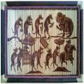 Tranh tre Đám Cưới Chuột, chất liệu tre hun khói - Tranh tre Xuân Lai