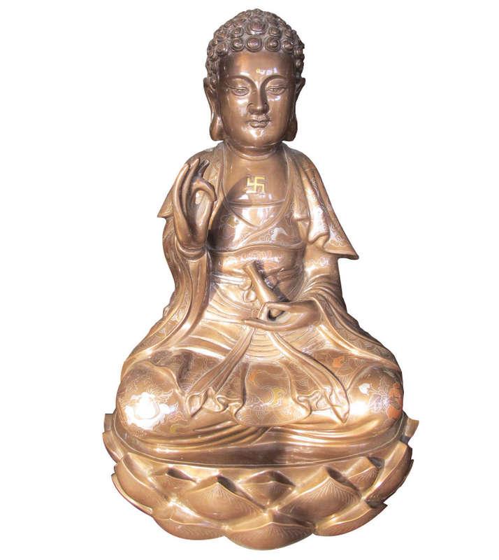 Tượng Phật Bà Quan Âm, khảm ngũ sắc, làng nghề Đại Bái
