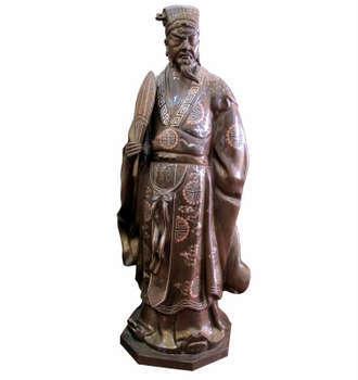 Tượng Khổng Minh, khảm ngũ sắc, làng nghề  Đại Bái