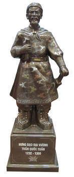 Tượng đồng Trần Quốc Tuấn, khảm ngũ sắc
