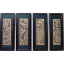 Bộ tranh tứ quý khắc gỗ
