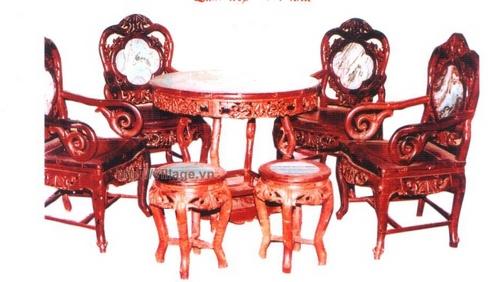 Bộ bàn ghế tròn phòng khách