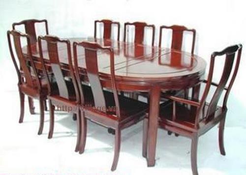 Đồ gỗ đồng kỵ: bộ bàn ăn loại lớn