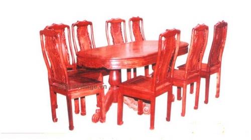 Đồ gỗ đồng kỵ: bộ bàn ăn loại to