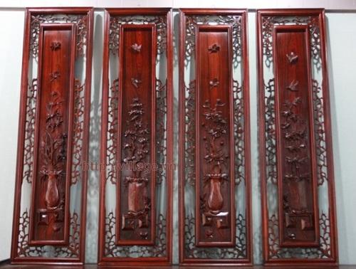 Bộ tranh khắc gỗ tứ quý