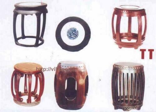 Đôn tròn gỗ gụ