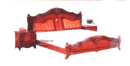Giường ngủ gỗ gụ thủ công