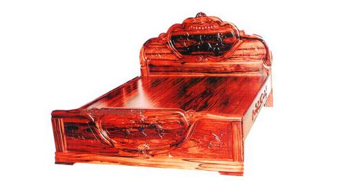 Giường ngủ chất liệu gỗ Hương