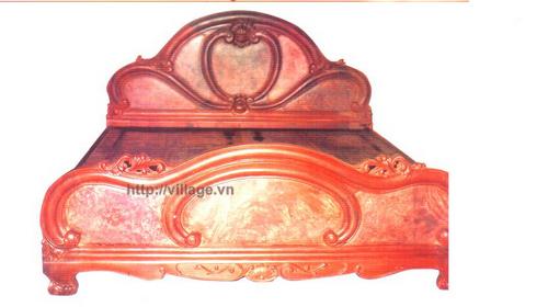 Giường chạm tay gỗ gụ