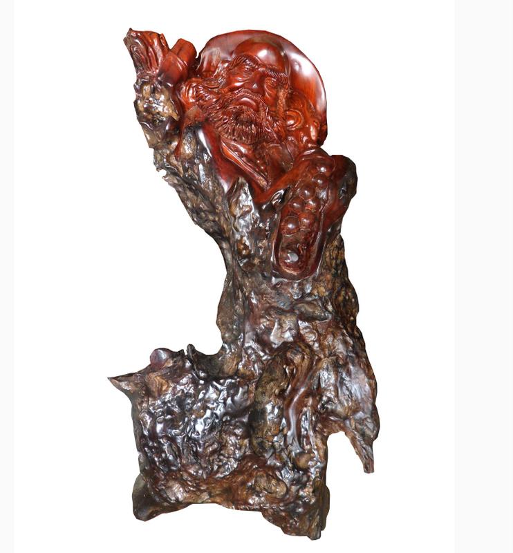 Tượng gốc cây sư tổ Đạt Ma, trang trí phong thủy