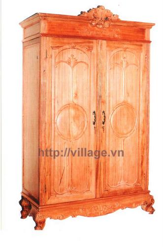 Tủ quần áo hai ngăn gỗ Hương