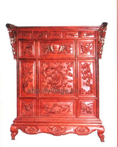Tủ thờ chạm khắc gỗ Hương