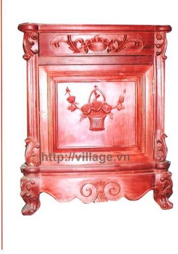Tủ thờ chạm hoa hồng