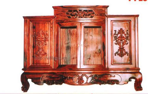 Tủ thờ ba ngăn gỗ Gụ