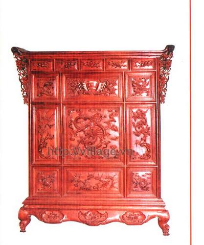 Tủ thờ gia tiên gỗ Hương
