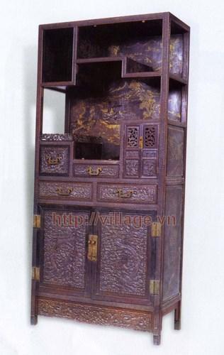 Tủ thờ chạm khắc gỗ Gụ