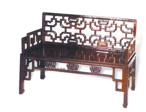 Salon dài gỗ gụ