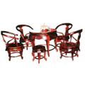 Bộ bàn ghế gỗ gụ vai tròn