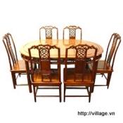 Đồ gỗ đồng kỵ: bộ bàn ăn gỗ Gụ