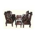 Đồ gỗ đồng kỵ: bộ bàn ghế phòng khách màu nâu