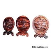 Đĩa trang trí gỗ Mun