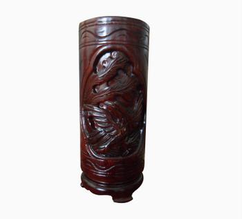 Ống cắm hương dùng trong thờ cúng, màu đen bóng