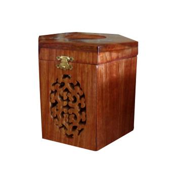 Hộp lục năng bằng gỗ xà cừ, có khảm trai