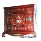 Tủ thờ gỗ Hương khảm trai
