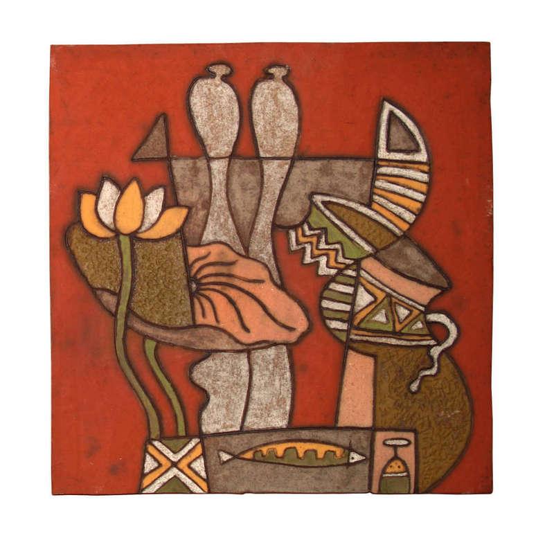 Tranh trừu tượng, làng nghề gốm sứ Phù Lãng