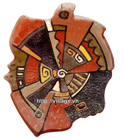 Tranh gốm hoa văn cổ
