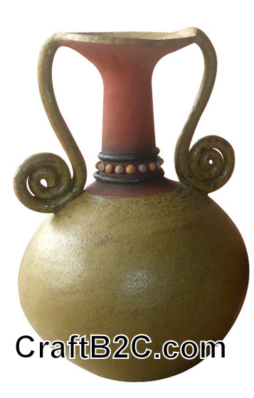 Lọ gốm quai móc trang trí Phù Lãng
