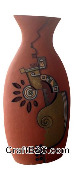 Lọ gốm trang trí trừu tượng