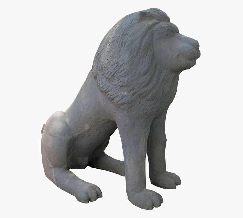 Tượng Sư Tử, được làm bằng xi măng