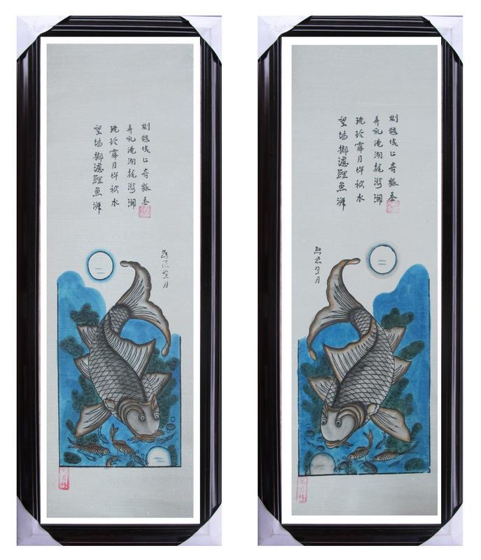 Tranh Lý Ngư Vọng Nguyệt, tranh dân gian Đông Hồ