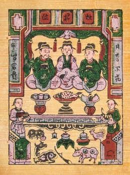 Tranh Táo Quân, tranh dân gian Đông Hồ