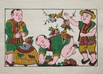 Tranh Chim Lồng, tranh dân gian Đông Hồ