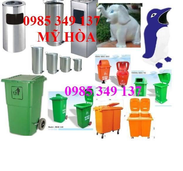 CNSG giảm giá thùng rác công cộng 120 lít, 240 lít, thùng rác nhựa LH:0985 349 137