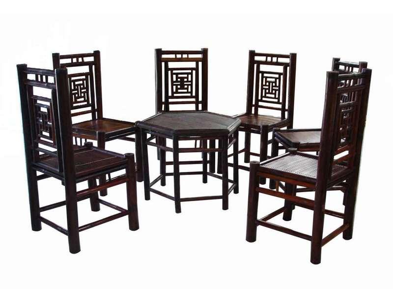 Bộ bàn ghế lục giác, làng nghề Xuân Lai
