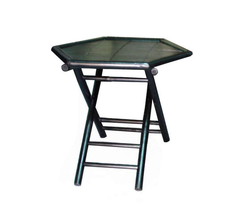 Bộ bàn ghế gập, bàn lục giác, bốn ghế