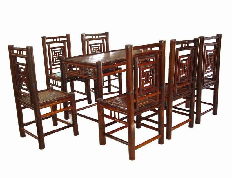 Bộ bàn ghế chữ Thọ, màu vàng cánh dán
