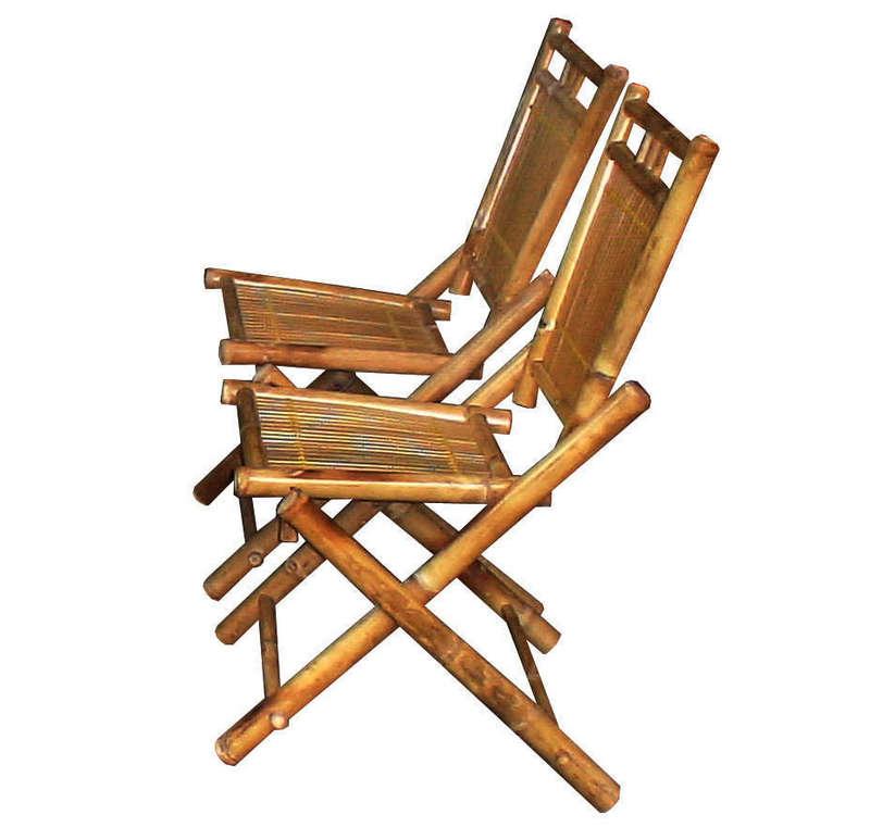 Bộ bàn ghế gấp chân, màu vàng tre Ngà