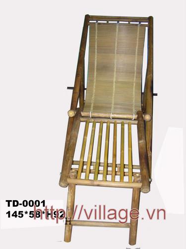 Ghế nằm có để chân tre Xuân Lai