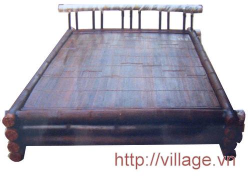 Giường tre hun Xuân Lai không chân