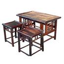 Bộ bàn ghế bằng tre đơn giản